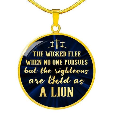Be Bold As A Lion | Circle Necklace Jewelry Luxury Necklace (Gold) No