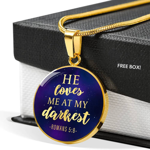 Loves me at my Darkest Color Circle Necklace Jewelry