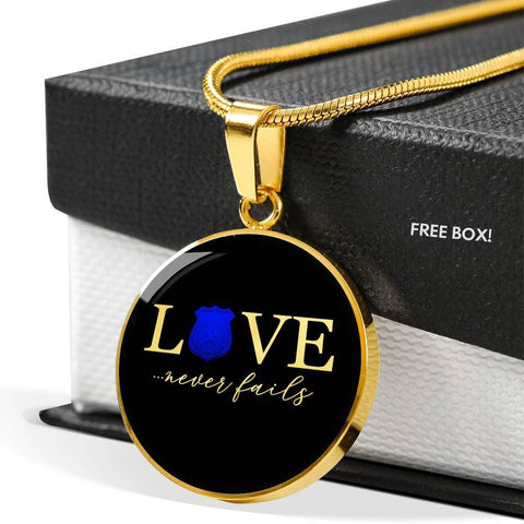 Love Never Fails, Police | Circle Necklace Jewelry