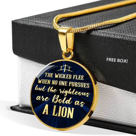 Be Bold As A Lion | Circle Necklace