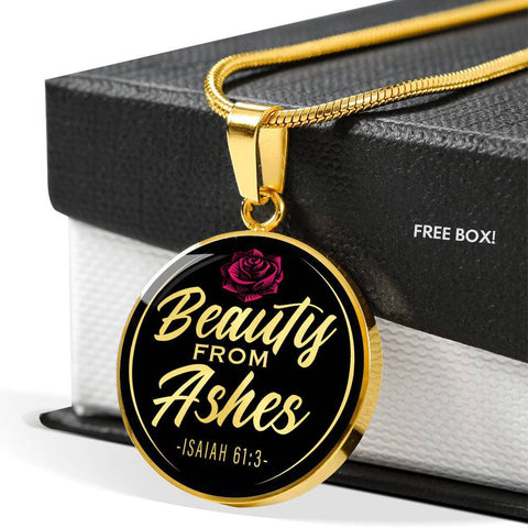 Beauty From Ashes Black Circle Necklace Jewelry