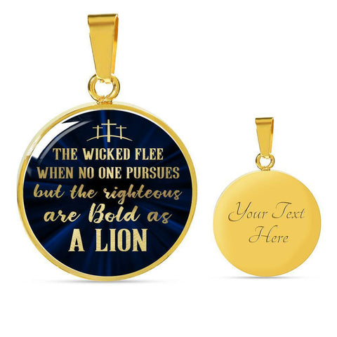 Be Bold As A Lion | Circle Necklace Jewelry Luxury Necklace (Gold) Yes