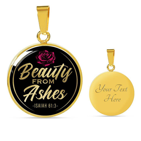 Beauty From Ashes Black Circle Necklace Jewelry Luxury Necklace (Gold) Yes