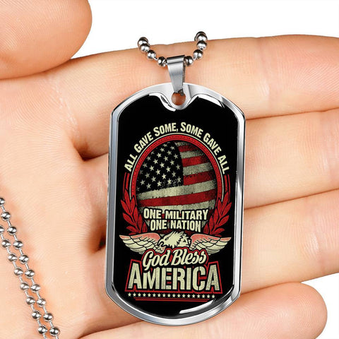 All Gave Some, Some Gave All Dog Tag Jewelry