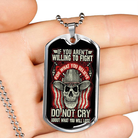Fight For What You Believe, V2 Dog Tag Jewelry