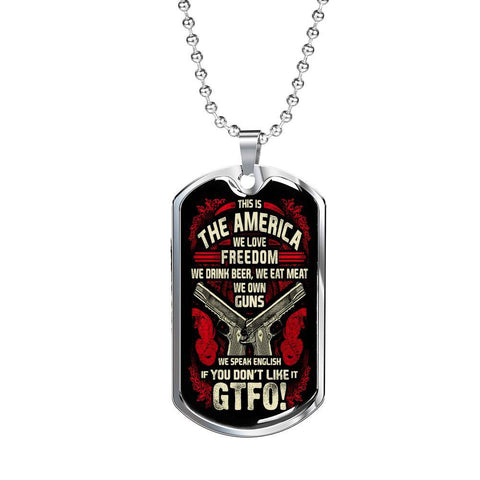 Beer, Meat, Guns, America Dog Tag Jewelry