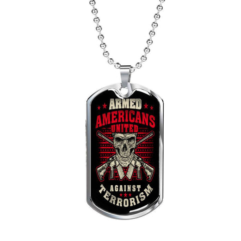 Armed Americans Against Terrorism Dog Tag Jewelry