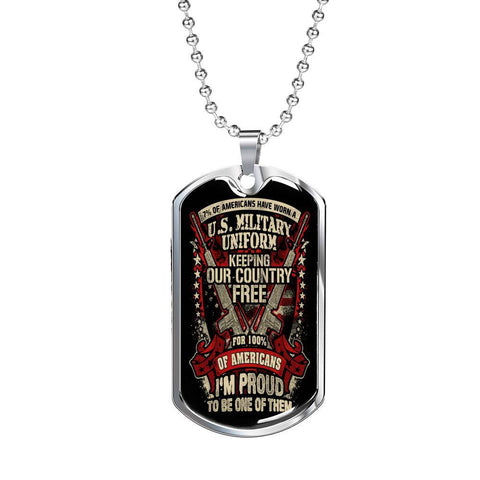Proud Veteran Dog Tag Jewelry