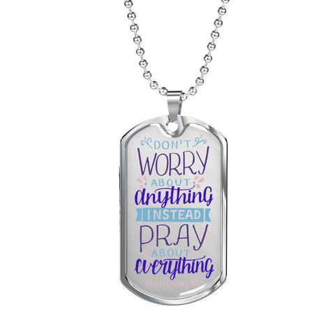 Image of Don't Worry! Philippians 4:6 Jewelry