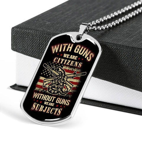 Citizen or Subject Dog Tag Jewelry