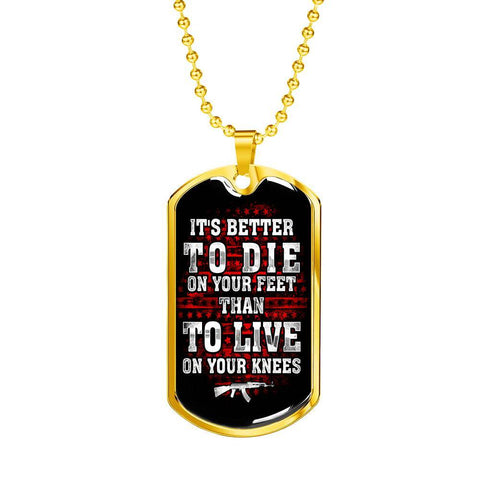 Die On Your Feet Dog Tag Jewelry