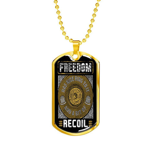Freedom has a Nice Ring and Some Recoil Dog Tag Jewelry