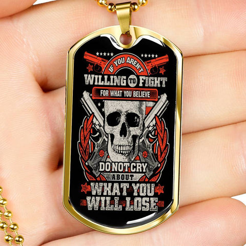 Fight for What You Believe Dog Tag Jewelry