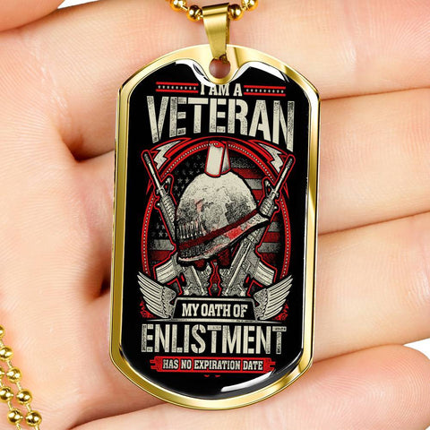 Oath of Enlistment Dog Tag Jewelry