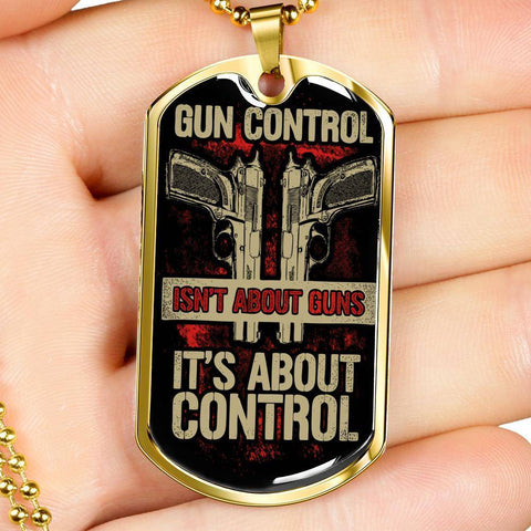 Gun Control Dog Tag Jewelry