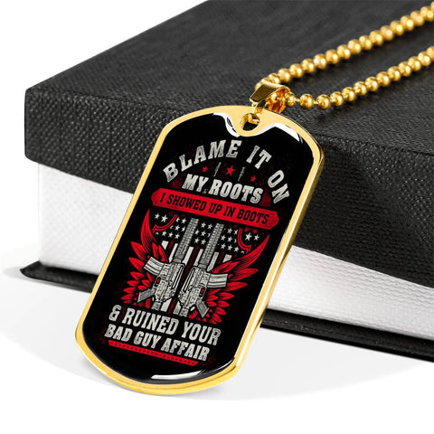 Blame It On My Roots Dog Tag Jewelry