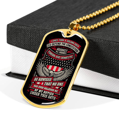 Defend the Constitution From All Enemies Dog Tag Jewelry