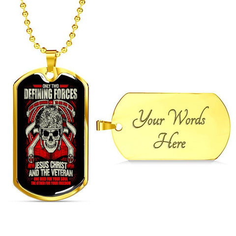 Defining Forces Dog Tag Jewelry Military Chain (Gold) Yes