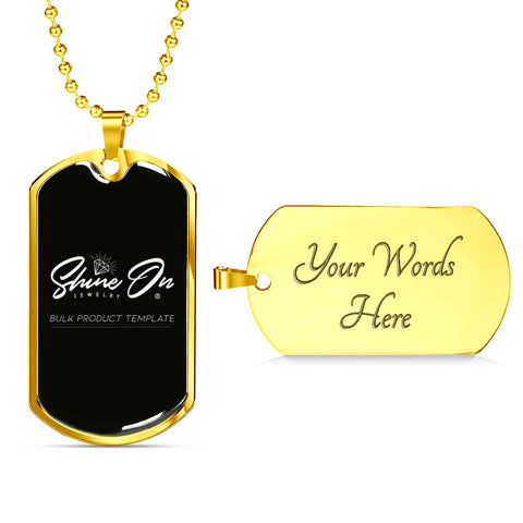 Dog Tag Jewelry Military Chain (Gold) Yes