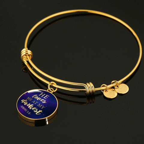 Loves me at my Darkest Color Circle Bangle Jewelry