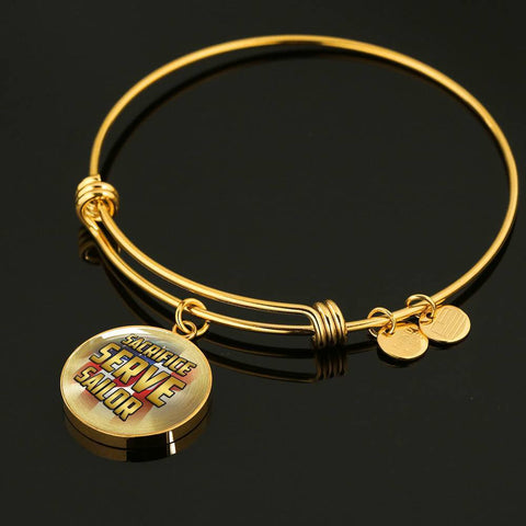 Sacrifice, Serve, Sailor(gold) | Circle Bangle Jewelry