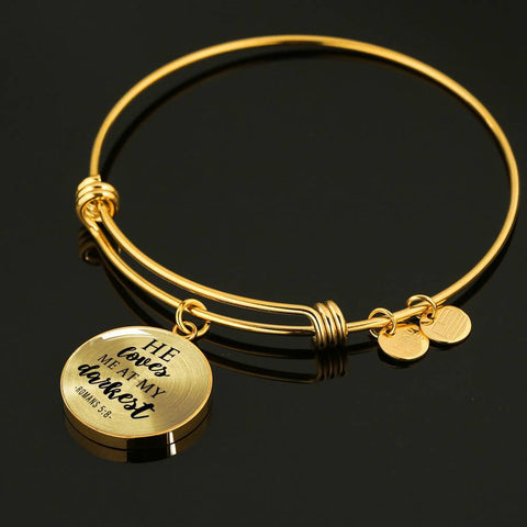 Loves me at my Darkest Circle Bangle Jewelry