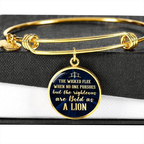 Be Bold As A Lion | Circle Bangle Jewelry Luxury Bangle (Gold) No