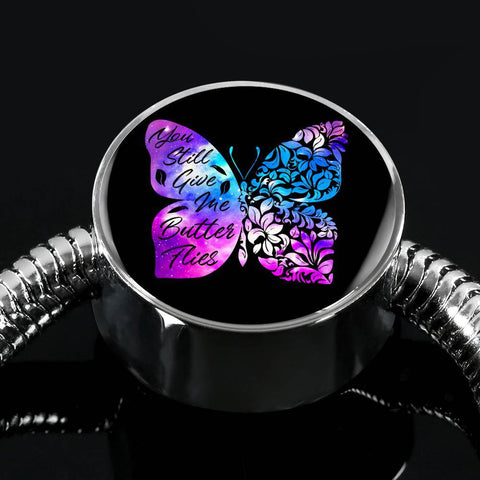 Butterflies Color Circle with Durable Steel Bracelet Jewelry S/M Bracelet & Charm No