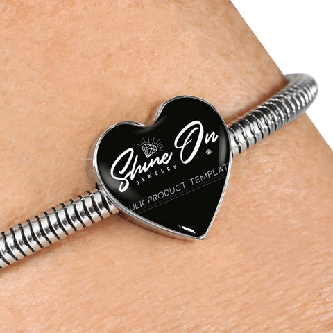 Image of Heart Charm Bracelet Jewelry