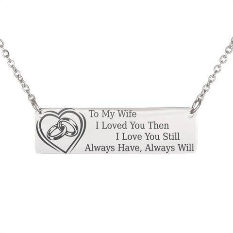 To My Wife | Pendant Necklace, This Will Melt Her Heart Jewelry