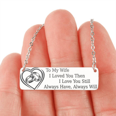 To My Wife | Pendant Necklace, This Will Melt Her Heart