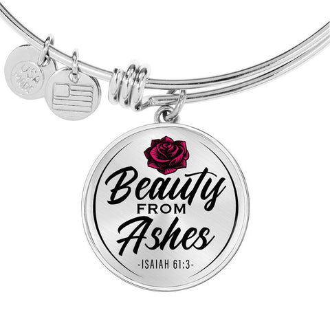Beauty From Ashes White Circle Bangle Jewelry