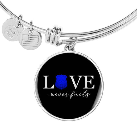 Love Never Fails, Police | Circle Bangle Jewelry