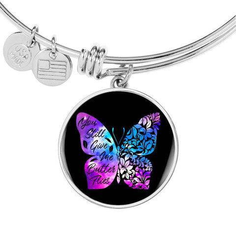 Butterflies Color Circle Bangle Jewelry