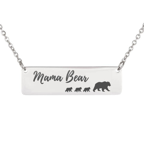 Mama Bear Necklace 3 Cubs