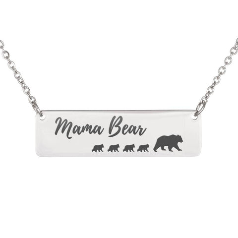 Mama Bear Necklace 4 Cubs