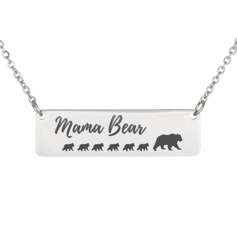 Image of Mama Bear Necklace 6 Cubs