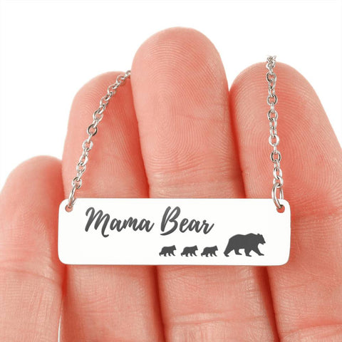 Image of Mama Bear Necklace 3 Cubs