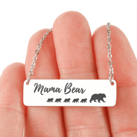 Image of Mama Bear Necklace 5 Cubs