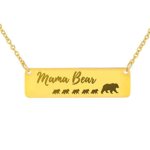 Mama Bear Necklace 5 Cubs