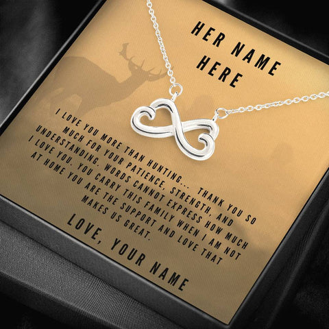 More Than Hunting Customize Your Message On This Forever Love Necklace