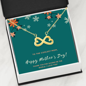 Coolest Mom Infinity Heart Necklace Jewelry