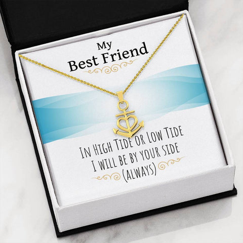 Image of Camargue Cross - Always By Your Side Jewelry 18k Yellow Gold Finish Friendship Anchor
