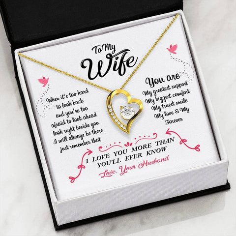 Image of To Wife From Husband - Forever Love Heart Necklace Jewelry