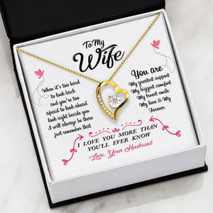 To Wife From Husband - Forever Love Heart Necklace Jewelry