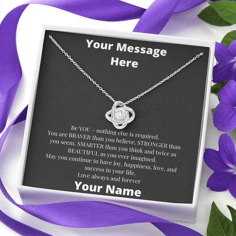 Image of Be You -- Great Customizable Gift - Love Knot Necklace