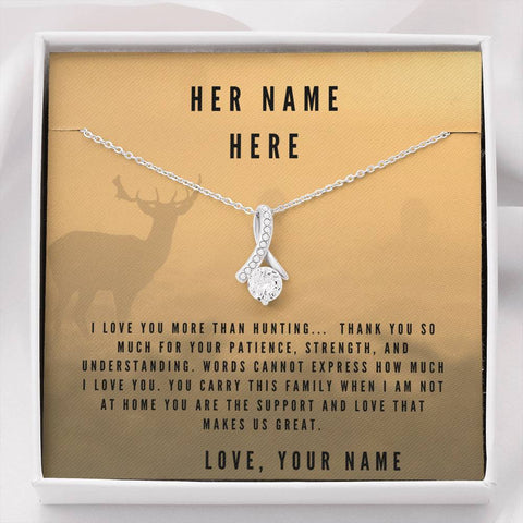 Image of I Love You More Than Hunting, Personalize This Unique Gift With You and Your Wifes Names