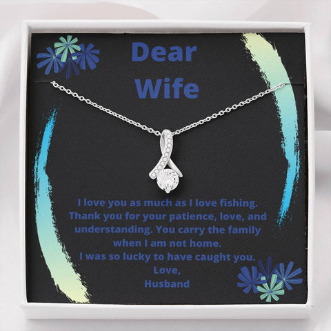 Image of I Love You As Much As Fishing, Customize This To Your Wife, From You.