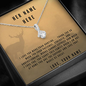 I Love You More Than Hunting, Personalize This Unique Gift With You and Your Wifes Names