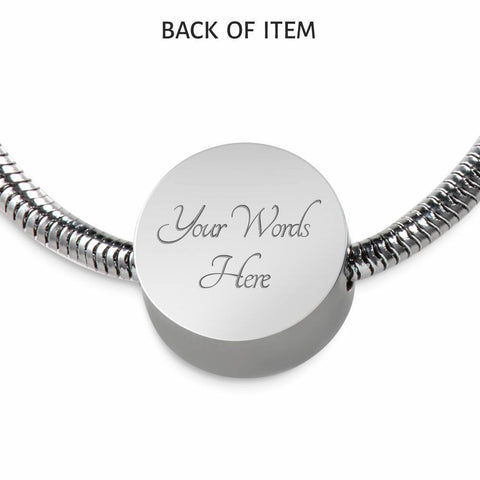 Be Still, Clear Background Circle with Durable Steel Bracelet Circle Charm S/M Bracelet & Charm Yes